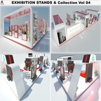 Exhibition Stands Collection 4 3D Model