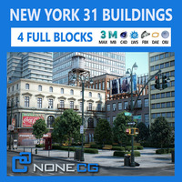 NYC - 4 Blocks - 31 Buildings 3D Model