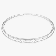 Circle Triangular Truss (Full diameter 600cm) 3D Model