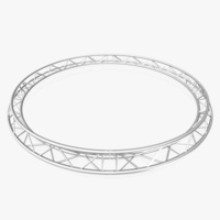Circle Triangular Truss (Full diameter 400cm) 3D Model