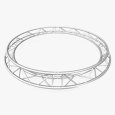 Circle Triangular Truss (Full diameter 300cm) 3D Model