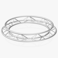 Circle Triangular Truss (Full diameter 200cm) 3D Model