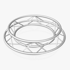 Circle Triangular Truss (Full diameter 150cm) 3D Model