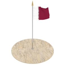 Qatar Flag 3D Model