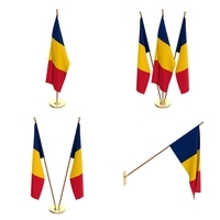 Chad Flag Pack 3D Model