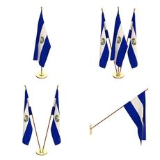 El Salvador Flag Pack 3D Model