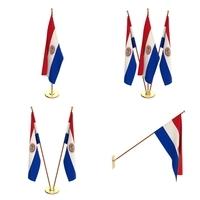 Paraguay Flag Pack 3D Model