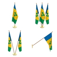 Saint Vincent And The Grenadines Flag Pack 3D Model