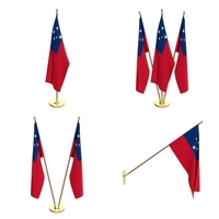 Samoa Flag Pack 3D Model