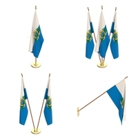 San Marino Flag Pack 3D Model