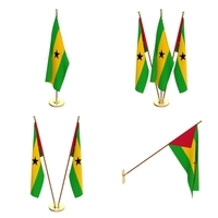 Sao Tome And Principe Flag Pack 3D Model