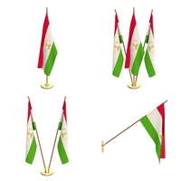 Tajikistan Flag Pack 3D Model
