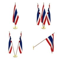 Thailand Flag Pack 3D Model