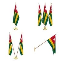 Togo Flag Pack 3D Model