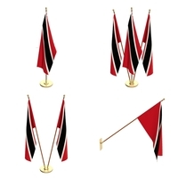 Trinidad And Tobago Flag Pack 3D Model