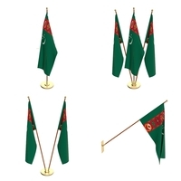 Turkmenistan Flag Pack 3D Model