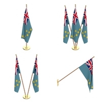 Tuvalu Flag Pack 3D Model
