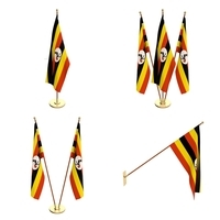 Uganda Flag Pack 3D Model