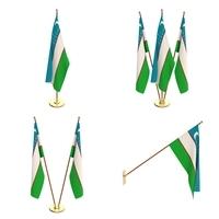 Uzbekistan Flag Pack 3D Model
