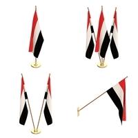 Yemen Flag Pack 3D Model