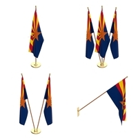 Arizona Flag Pack 3D Model