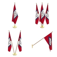 Arkansas Flag Pack 3D Model