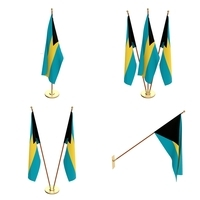 Bahamas Flag Pack 3D Model
