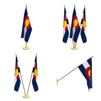 Colorado Flag Pack 3D Model