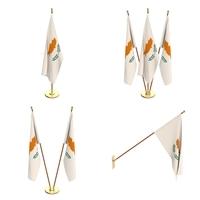 Cyprus Flag Pack 3D Model