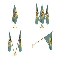 Delaware Flag Pack 3D Model