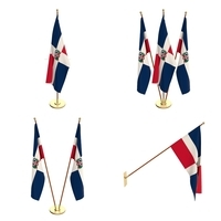 Dominican Republic Flag Pack 3D Model
