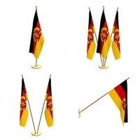 Est German Flag Pack 3D Model