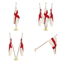 England Flag Pack 3D Model