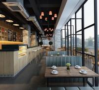 Modern restaurant 3D Model