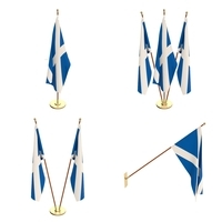 Scotland Flag Pack 3D Model
