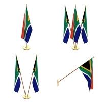 South Africa Falag Pack 3D Model