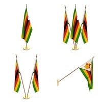 Zimbabwe Flag Pack 3D Model