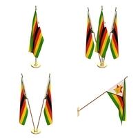 Zimbabwe Flag Pack 3D Model