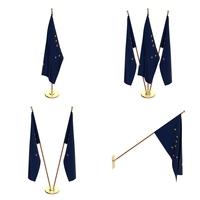 Alaska Flag Pack 3D Model