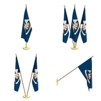 Louisiana Flag Pack 3D Model