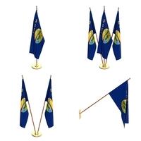 Montana Flag Pack 3D Model