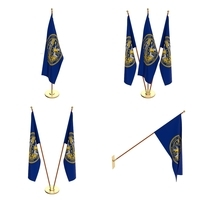 Nebraska Flag Pack 3D Model