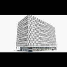The Qube Building 3D Model