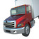 Hino338 box truck 2014- 2018 3D Model