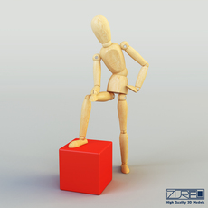 Wooden Dummy Doll 3D Model