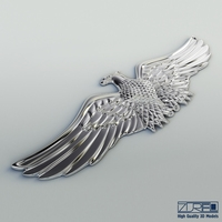 Chrome Eagle 3D Model