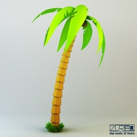 Palm Tree v 1 3D Model