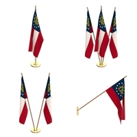 Georgia State Flag Pack 3D Model