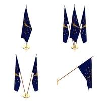 Indiana Flag Pack 3D Model
