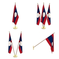 Laos Flag Pack 3D Model